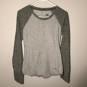 The North Face Womens Two ToneGray Long/S Top XS